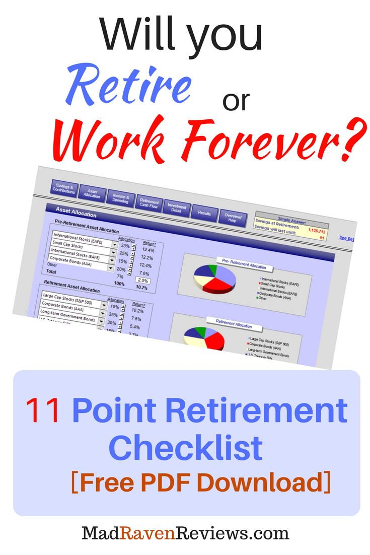 11 Point Retirement Checklist [Free PDF]